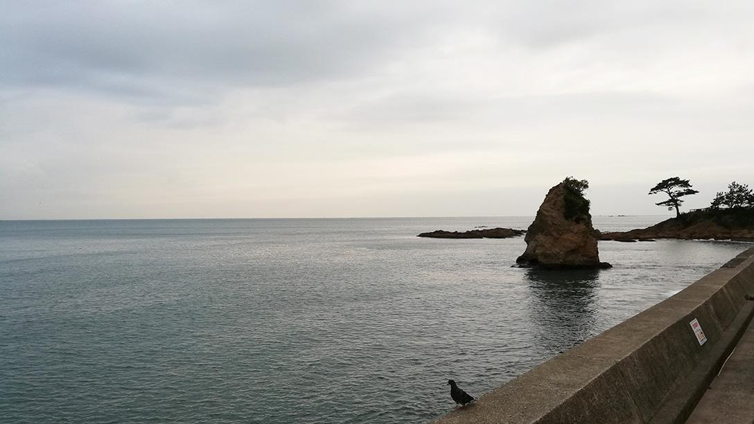 神奈川県 秋谷・立石海岸での石拾い